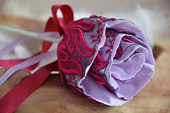 Dekorácie - Kvet ruža noci (Fialová) - 10326412_