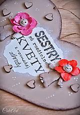 Tabuľky - Sestry v srdci - tabuľka na stenu - 10325933_