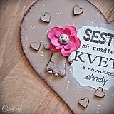 Tabuľky - Sestry v srdci - tabuľka na stenu - 10325935_