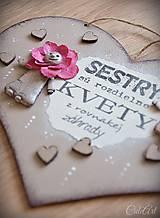 Tabuľky - Sestry v srdci - tabuľka na stenu - 10325938_
