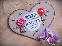 Tabuľky - Sestry v srdci - tabuľka na stenu - 10325940_