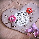 Tabuľky - Sestry v srdci - tabuľka na stenu - 10325941_