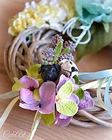 Pierka - Psíkovia - zápich do pierka pre ženícha (podľa fotografie) - 10326994_