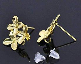 Komponenty - PU103 Puzeta zlatá 1,5 x 1,4 cm - 10327771_