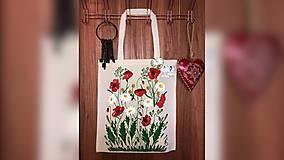 Iné tašky - ♥ Plátená, ručne maľovaná taška ♥ - 10327502_
