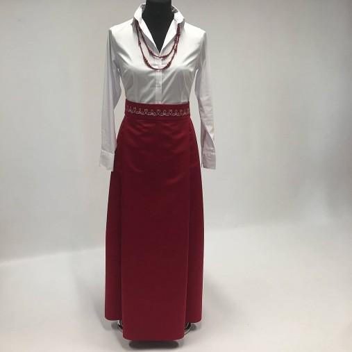 bf242e942b20 Skladaná dlhá sukňa - modrá s folk opaskom   miracles.style - SAShE ...