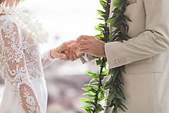 Šaty - Svadobné šaty s dlhým rukávom morská panna - 10326815_