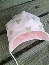 Detské čiapky - ružová - 10326044_