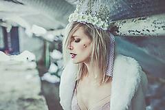 Ozdoby do vlasov - Zamrzlá korunka - VÝPREDAJ - 10326808_