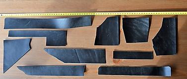 Suroviny - Zbytková koža čierná kúsky - 10325342_