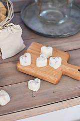 Svietidlá a sviečky - Sójové vosky v ľanovom vrecúšku 5ks - 10326962_