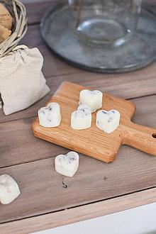 Svietidlá a sviečky - Sójové vosky v ľanovom vrecúšku 5ks (