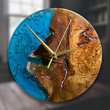 Hodiny - Drevené dekoračné hodiny - Ocean Splash - 10327297_