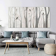 Obrazy - obraz, Strieborný les, 200x100 - 10327304_