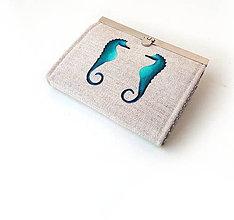 Peňaženky - Peňaženka s priehradkami Morské koníky - 10326560_