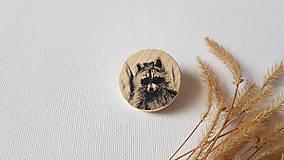 Odznaky/Brošne - Brošňa: Medvedík čistotný - 10325702_