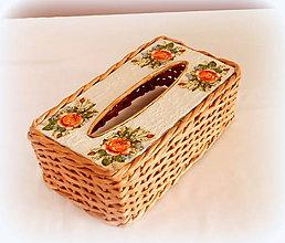 Košíky - Košík - krabička na vreckovky - hnedá - 10325641_