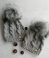 Čiapky - Set čiapok mama a dieťatko - 10327488_