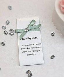 Darčeky pre svadobčanov - Svadobné vreckovky (Zelená) - 10327268_