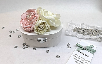 Prstene - Svadobná krabička na prstienky - 10327462_