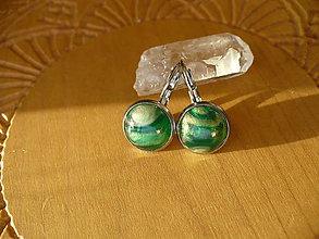 Náušnice - zelené náušnice - 10326274_