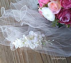 Ozdoby do vlasov - svadobný hrebienok..biela neha - 10325671_