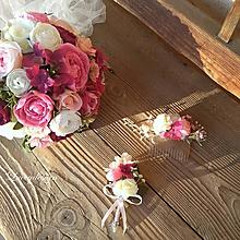 Kytice pre nevestu - svadobná sada....bozk z malín - 10327144_