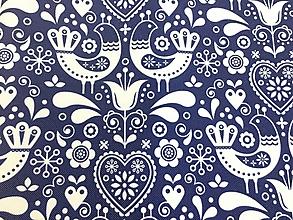 Textil - Nepremokavá látka v dizajne modrotlač - 10328307_