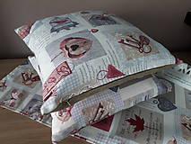 Úžitkový textil - Sada De Sonates (bordová) - 10331145_
