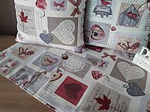 Úžitkový textil - Sada De Sonates (bordová) - 10331146_