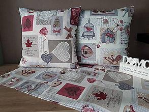 Úžitkový textil - Sada De Sonates (bordová) - 10331147_