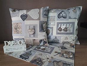Úžitkový textil - Sada De Sonates (sivá) - 10331153_