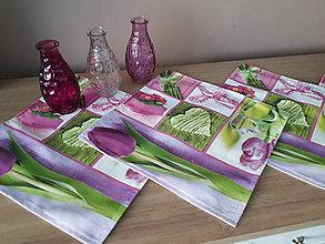 Úžitkový textil - Jarný set  (Prestieranie tulipán 30*30 cm) - 10331333_