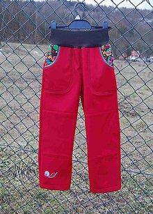 "Detské oblečenie - Softshellové kalhoty 30/15 ""šneci II."" - 10329714_"