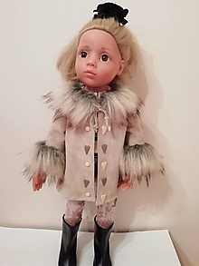Hračky - Kožený kabátik pre bábiku Gotz v. 50 cm - 10331719_
