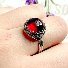 Prstene - Vintage Natural Red Amber Ring Ag925 / Strieborný prsteň s prírodným jantárom #1457 - 10329161_