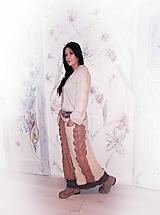 Sukne - lel, maxi hrubá vlnená sukňa patchwork - 10328850_
