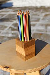 Pomôcky - Stojan na ceruzky - hranatý 12 - 10331378_