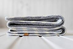 "Textil - Detská deka, ""Chevron"", OEKO-TEX® - BéžovoSivá/Sivá podšívka - 10330046_"