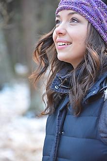 Ozdoby do vlasov - fialový melír - 10330895_