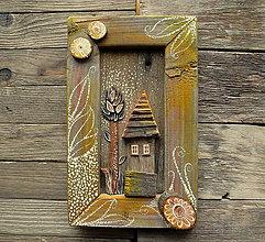 Obrazy - Dom v žltom šate - 10331661_