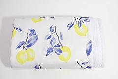 Textil - Akvarelová, detská prikrývka - CITRÓNY - 10331320_