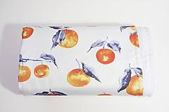 Textil - Akvarelová, detská prikrývka - MANDARÍNKY - 10331475_
