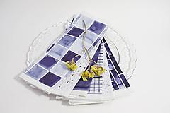 Úžitkový textil - Set šiestich INDIGO obrúsokov - 10331800_