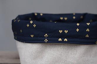 Košíky - Textilný úložný košík - 10329005_