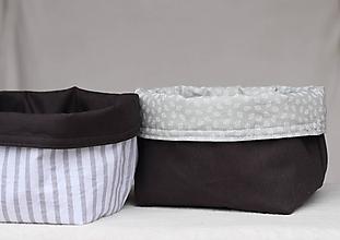 Košíky - Textilný úložný košík - 10329072_