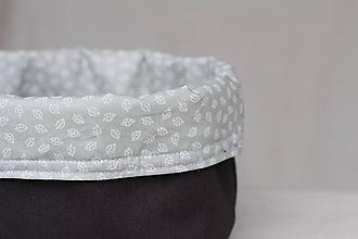 Košíky - Textilný úložný košík - 10329133_