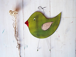 Dekorácie - Vtáčik - 10329959_