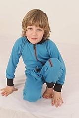 Detské oblečenie - Rastúci overal - merino vlna (veľ. 117-134cm (6-9 rokov) - výber farieb a vzorov) - 10328582_