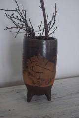 Nádoby - Váza s havranom - 10329778_